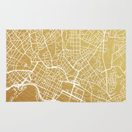 Gold Oslo map Rug