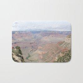 Majestic Grand Canyon with Tourists Bath Mat