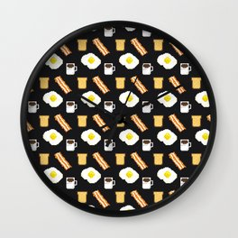 pixel breakfast Wall Clock