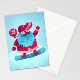Snowboard Santa Stationery Cards