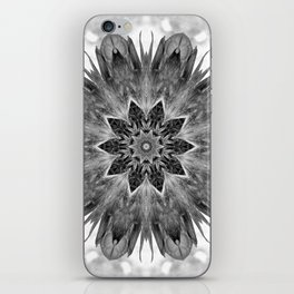 Beautiful Black White Flower Abstract iPhone Skin