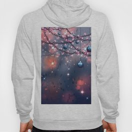 Winter abstract background with balls Hoody