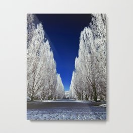 An alley in infrared Metal Print