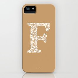 Floral Letter F iPhone Case