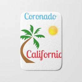 Coronado California Palm Tree and Sun Bath Mat