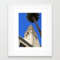 san diego Framed Art Prints featuring San Diego by Chris Martin