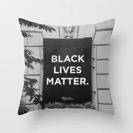 Black Lives Matter DC Protests Throw Pillow