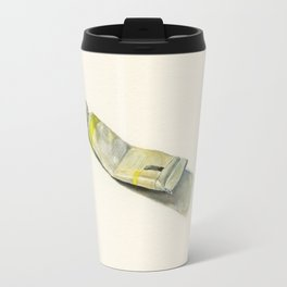 Cadmium Lemon Yellow Watercolor Tube Travel Mug