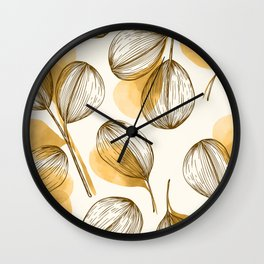 Round Leaves 3 Wall Clock