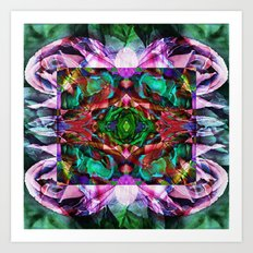 Acid Rose Art Print