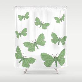 Emerald Moth Shower Curtain