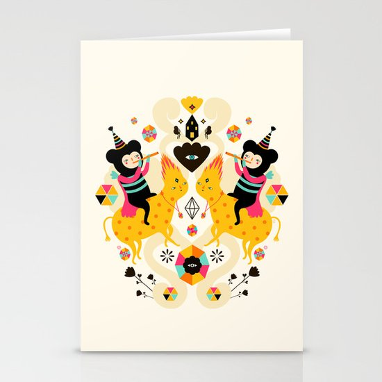Music is happiness Stationery Cards