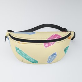 Crystals pattern - Yellow Fanny Pack