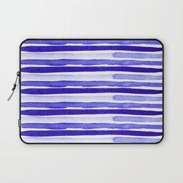 Ultra Violet Watercolour Stripes Laptop Sleeve