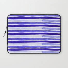Ultra Violet Watercolour Stripes Laptop Sleeve