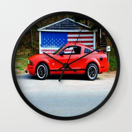 Patriotic Pony Wall Clock