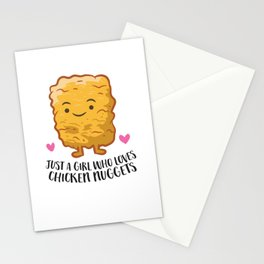 Just A Girl Who Loves Chicken Nuggets Stationery Cards