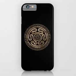 Hecate Wheel Black and Gold iPhone Case