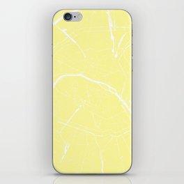 Paris France Minimal Street Map - Yellow on White iPhone Skin