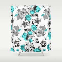 Hula Floral Shower Curtain