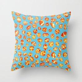 Gemstone Field Throw Pillow