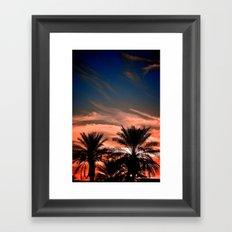 Palm Sunset Framed Art Print