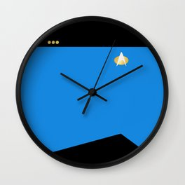 Star Trek: TNG Blue Commander Uniform Wall Clock