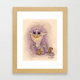 Baby Gryphon! Framed Art Print