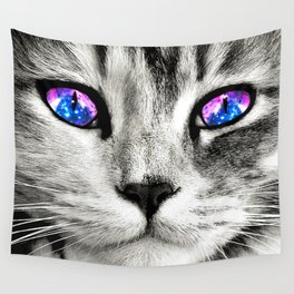 Galaxy Cat Wall Tapestry