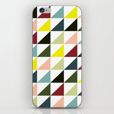 Mid-century triangles iPhone & iPod Skin