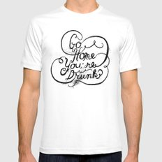 GO HOME MEDIUM Mens Fitted Tee White