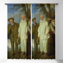 """Antoine Watteau """"The Italian Comedians"""" (II) Blackout Curtain"""