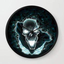 Black skeleton in the dark Wall Clock