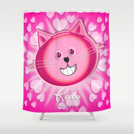 kato the cat 4 Shower Curtain