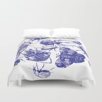 insect Duvet Covers featuring Insect Toile by Cori Redford