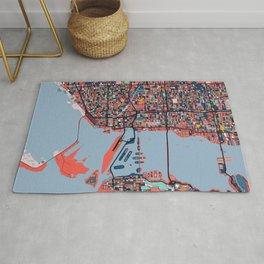 Miami Florida Abstract Map Art Rug