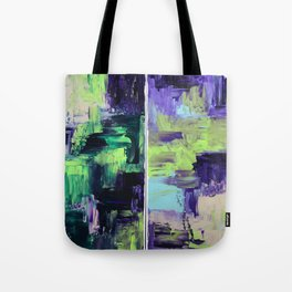 Violet & Green On A Rainy Day Tote Bag