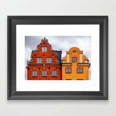 Stockholm. Colorful Houses in Gamla Stan Framed Art Print