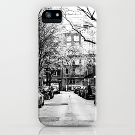 Tree Lined Streets in New York City iPhone Case