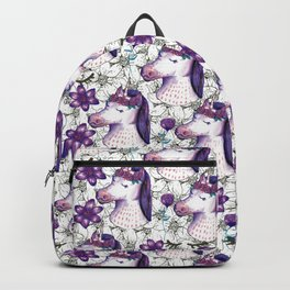 unicorn spring floral Backpack
