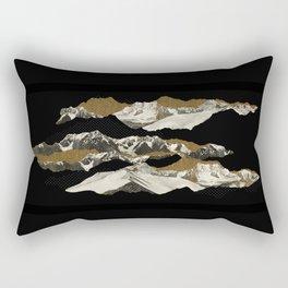 Golden Zugspitze / Black Rectangular Pillow