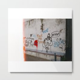 The System Metal Print