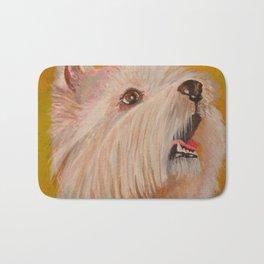 Westhighland White Terrier Portrait Bath Mat
