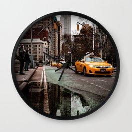 23rd Street Puddles Wall Clock