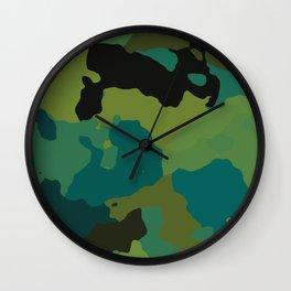 Colorful Camo Wall Clock