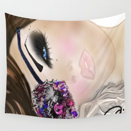 Beauty Buccaneer Illustration Wall Tapestry