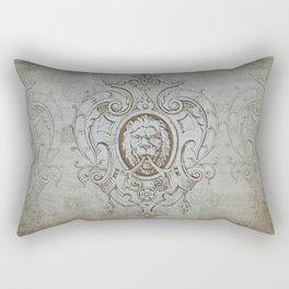 Heraldic Lion vintage retro art Rectangular Pillow