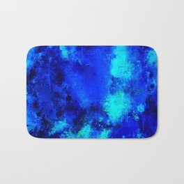 psychedelic color gradient pattern splatter watercolor blue Bath Mat