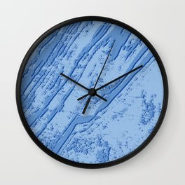 BLUE MARBLE EFFECT Wall Clock