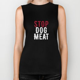 Stop Dog Meat Trade Protest Biker Tank
